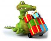 Fun cartoon crocodile — Stock Photo