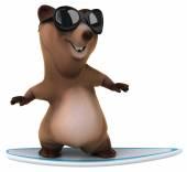 Fun cartoon bear — Stock Photo