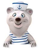 Fun bear in sailor shirt — Stock Photo