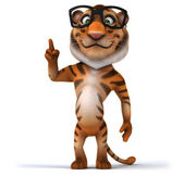 Cartoon Tiger in glasses — Stockfoto
