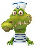 Fun crocodile sailor — Foto de Stock