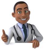Fun cartooon doctor — Stock Photo
