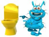 Germen de dibujos animados divertido — Foto de Stock