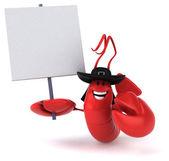 Fun chef lobster — Stock Photo