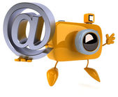 Fun camera with email sign — Stockfoto