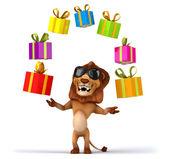 Fun lion illustration — Stock Photo