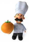 Fun Chef with an orange — Stock Photo