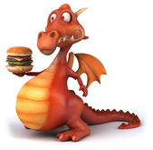 Dragon and burger — Stock Photo