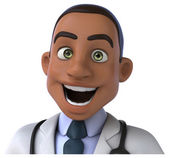 Fun cartooon doctor — Stock Photo