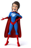 Fun female superhero — Stock Photo