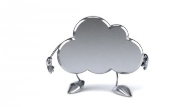 Fun cloud walking — Stock Video