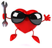 Fun heart with wrench — Stockfoto