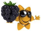 Fun sun with blackberry — ストック写真