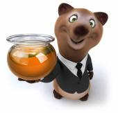 Fun bear in suit and tie — Stock Photo
