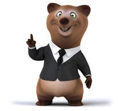Fun bear in business suit — Stock Photo