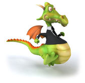 Fun cartoon dragon — Stock Photo