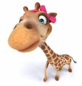 Fun giraffe with bow — Стоковое фото