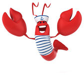 Fun lobster dressed as sailor — Stock Photo