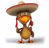 Pollo divertente in cappello del sombrero — Foto Stock