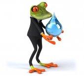 Fun cartoon frog — Foto Stock