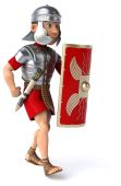 Roman legionary soldier — Stock Photo