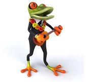 Fun frog with ukulele — Stock Photo