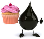 Oil drop with  cupcake — Stock Photo