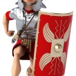 Roman legionary soldier — Stock Photo #68473811