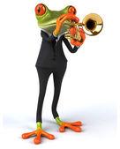 Fun cartoon frog — Stock Photo