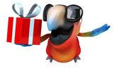 Fun cartoon parrot — Stok fotoğraf