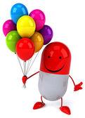 Весело мультфильм таблетки — Стоковое фото