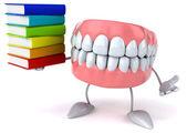 Eğlenceli çizgi film diş — Stok fotoğraf