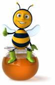 Leuke cartoon bee — Stockfoto