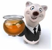 White bear businessman — Stock Photo