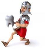 Kreskówka rzymski żołnierz — Zdjęcie stockowe