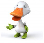 Fun cartoon duck — Stock Photo