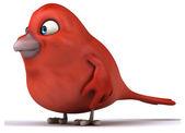 Red cartoon bird — Stock Photo