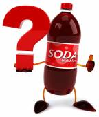 Soda bottle with question mark — Foto de Stock