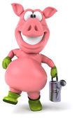 Fun cartoon pig — Stock Photo