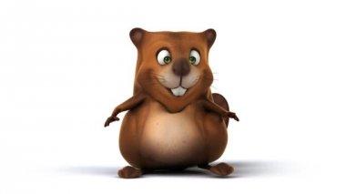 Fun cartoon Beaver — Stock Video