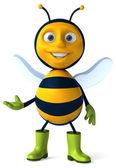 Fun cartoon bee — Stock Photo