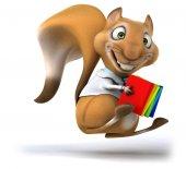 Fun cartoon squirrel — Stock Photo