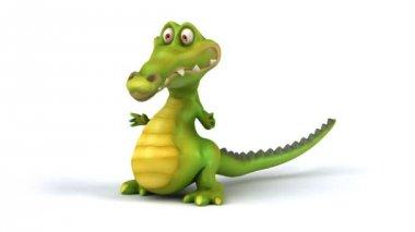 Fun cartoon crocodile dance — Stock Video