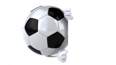 Football ball with blank board — Stock Video