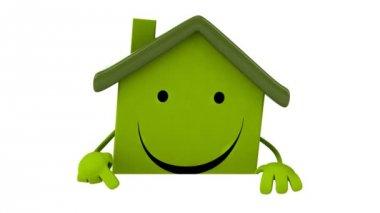 绿色乐趣卡通房子 — 图库视频影像