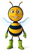 靴子的有趣蜜蜂 — 图库照片