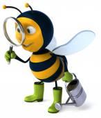 Cartoon fun bee — Stock Photo