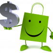 Shopping bag with dollar sign — Stock Photo #70012283