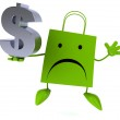 Shopping bag with dollar sign — Stock Photo #70012293