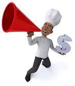 Fun chef with dollar sign — Stock Photo